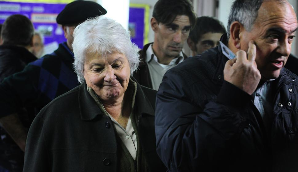 Topolansky en elecciones municipales cuando fue candidata. Foto: Darwin Borrelli