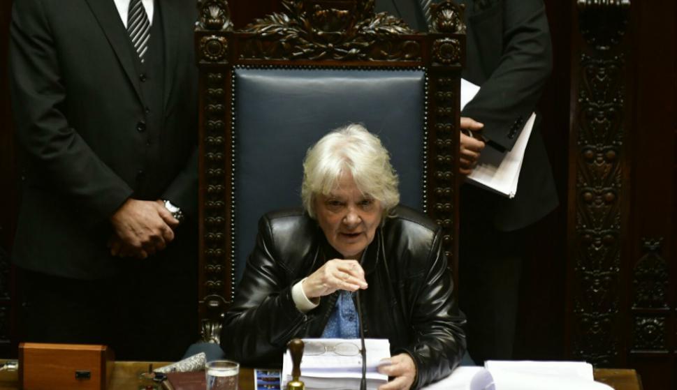 Primera sesión del Senado con Lucía Topolansky como vicepresidenta de la República. Foto: Fernando Ponzetto.