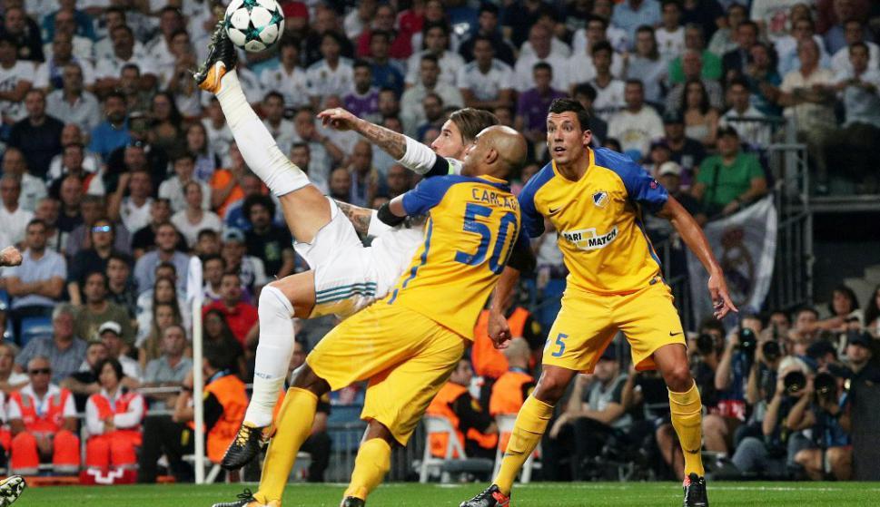 Gol de chilena de Sergio Ramos al Apoel