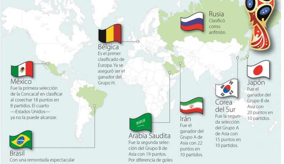 El mapa del Mundial - Fútbol - Ovación - Últimas noticias de Uruguay ...