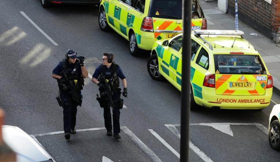 Policía patrulla la zona del atentado. Foto: Reuters