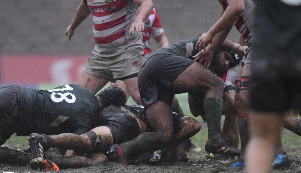 apón ganó el World Rugby U20 Trophy 2017 y el ascenso al primer nivel del rugby juvenil en el World Rugby U20 Championship bajo una tormenta de lluvia en Montevideo. Foto. Marcelo Bonjour