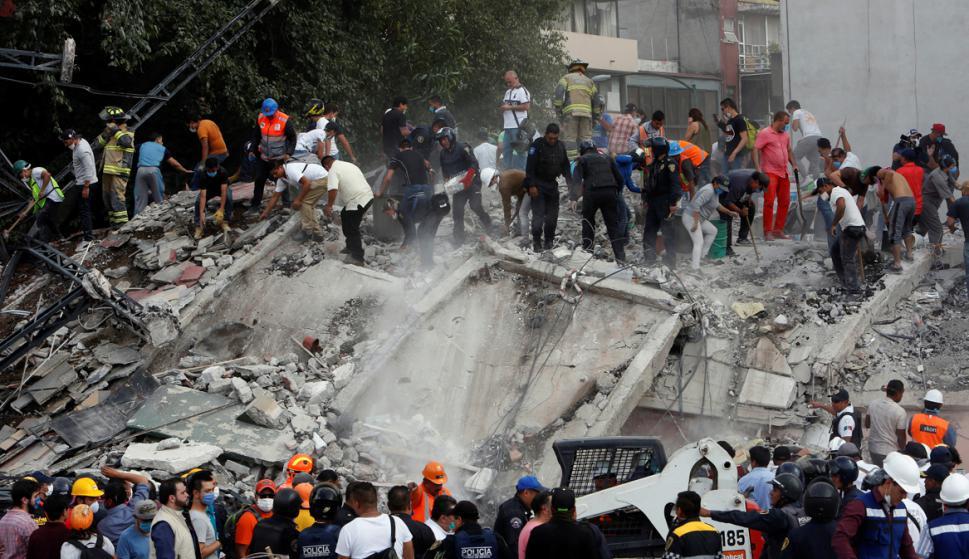 El olor a gas invadió zonas de la ciudad de México. Foto: AFP