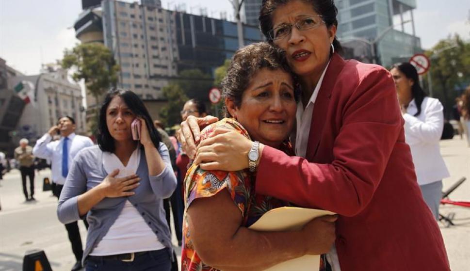 Terremoto en México. Foto: EFE