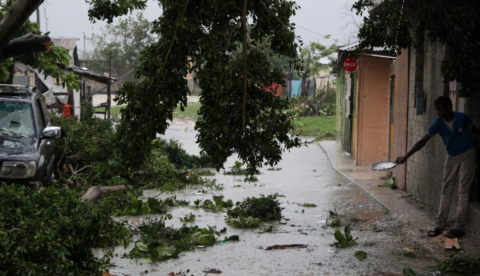 El ojo de María pasará durante este jueves sobre las aguas de la costa noreste de República Dominicana. Foto: Reuters
