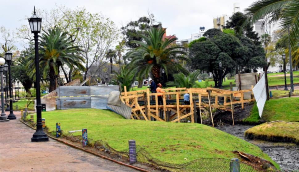 El proceso de reacondicionamiento del lago incluyó remoción de lodos que perjudicaban el agua y reparación de muros: Foto: IMM