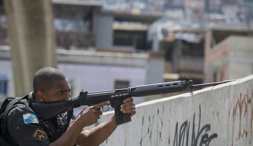 La Policía debió reforzar la seguridad. Foto: AFP