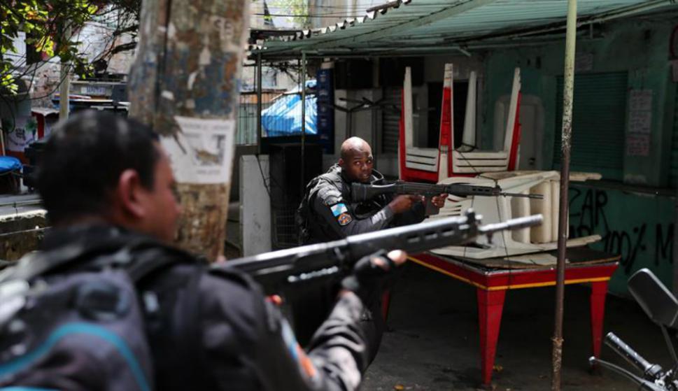 Fue el domingo cuando la situación de Rocinha se salió de control. Foto: AFP