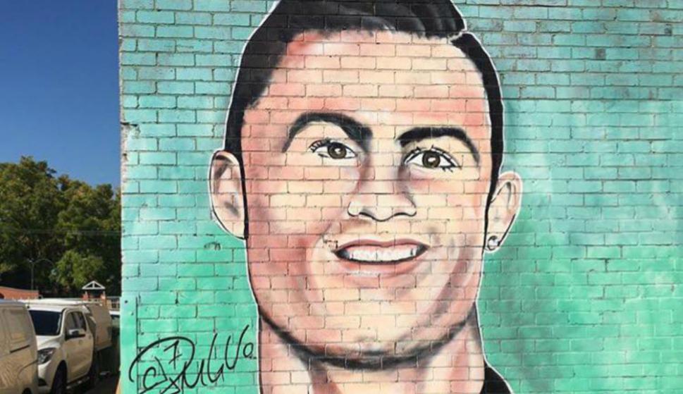 Cristiano Ronaldo. Foto: @GraffitiHallofShame