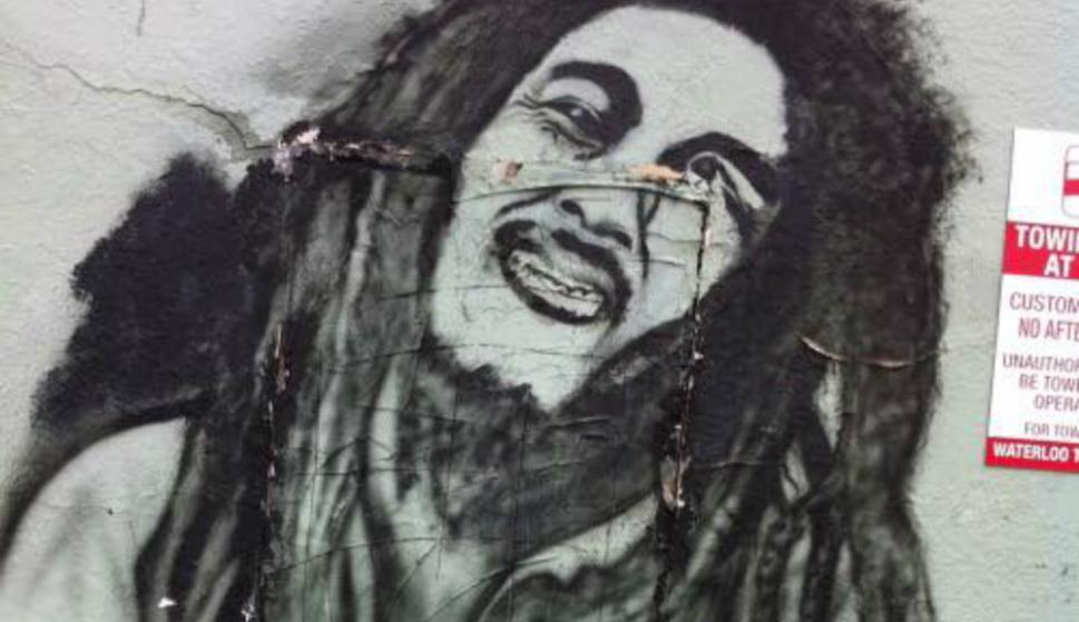 Bob Marley. Foto: @GraffitiHallofShame
