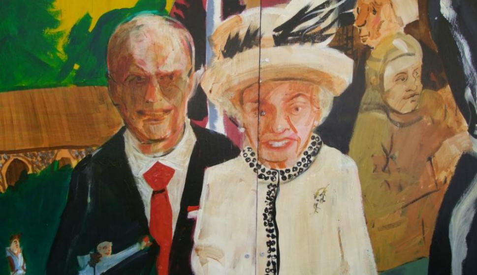 Felipe duque de Edimburgo y la reina Isabel II. Foto: @GraffitiHallofShame