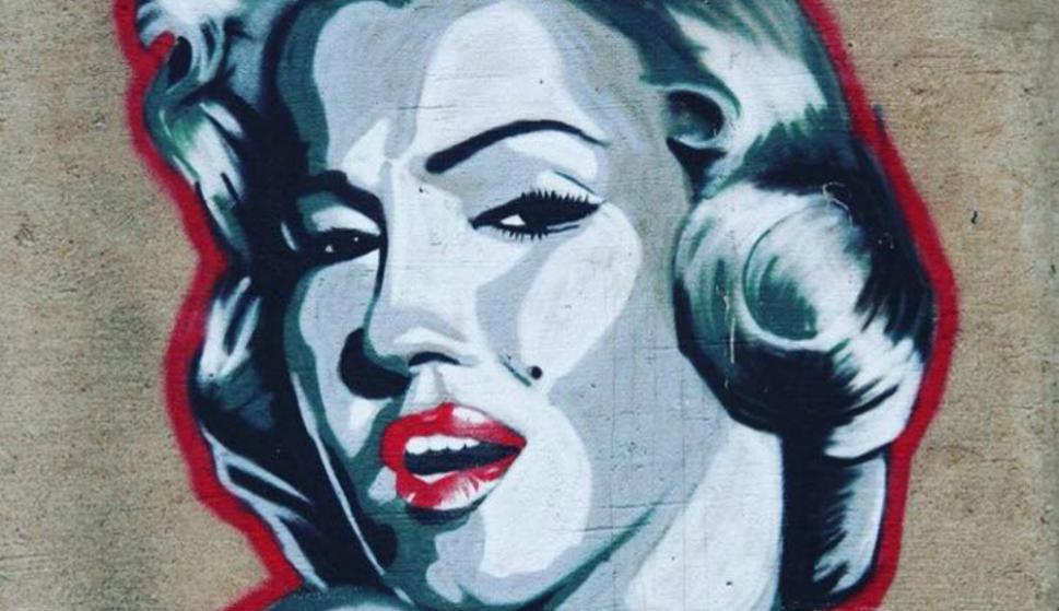 Marilyn Monroe. Foto: @GraffitiHallofShame