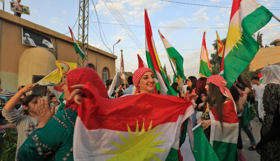 Kurdos en Irak votaron por la independencia de la región. Foto: AFP.