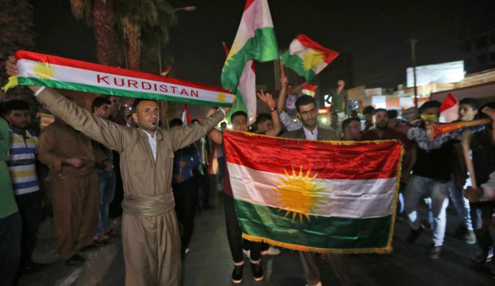 Festejos de los kurdos en Irak. Foto: AFP.