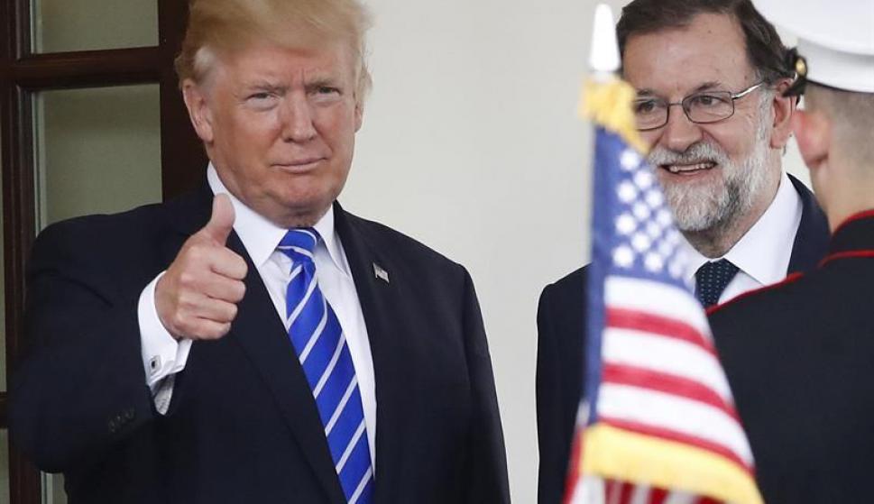 Donald Trump y Mariano Rajoy en la Casa Blanca. Foto: EFE