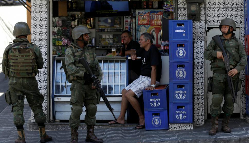 Rocinha: en la favela viven unas 60.000 personas. Foto: AFP