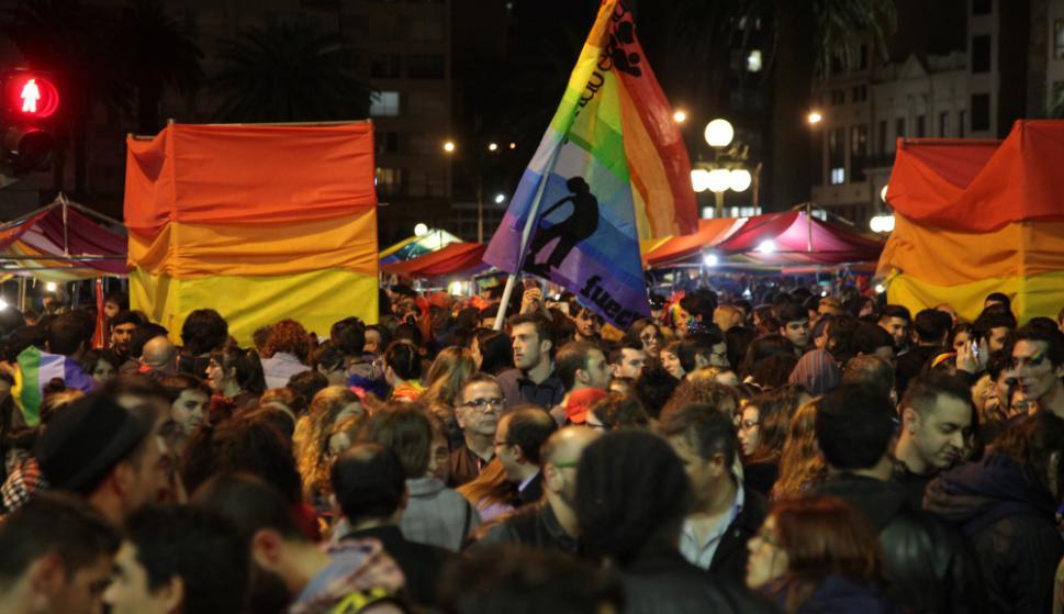 La Marcha se sintió como una fiesta para muchos. Foto: Mateo Vázquez