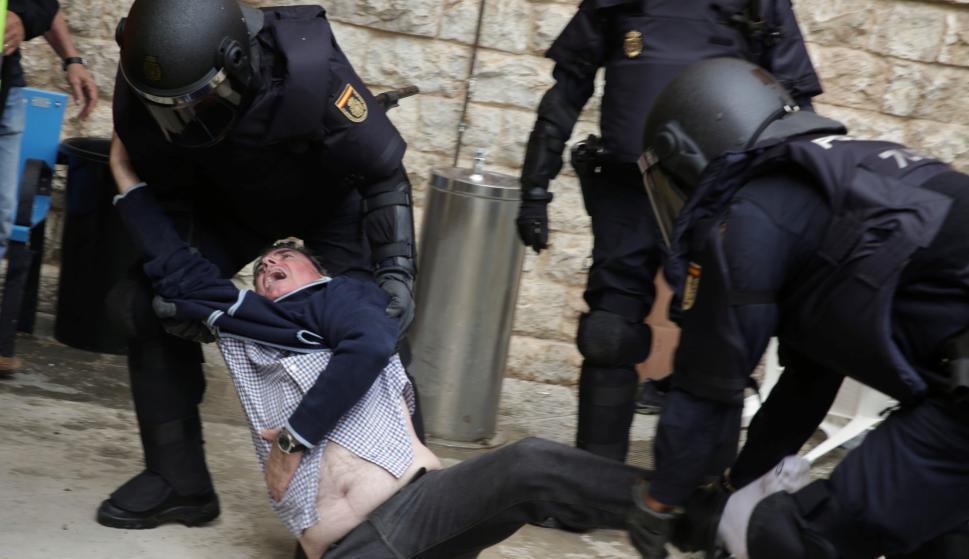Enfrentamientos en España. Foto: Reuters