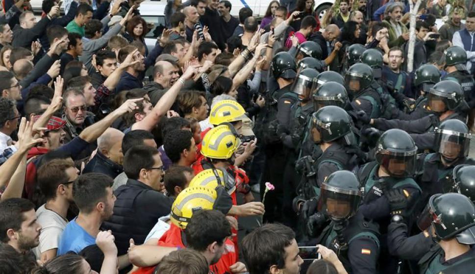 Incidentes en España. Foto: EFE