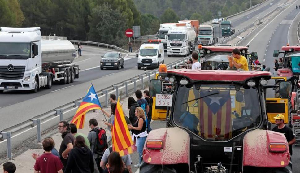 Manifestaciones en Cataluña. Foto: EFE
