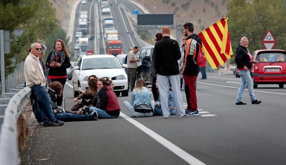 Paro general en Cataluña. Foto: EFE