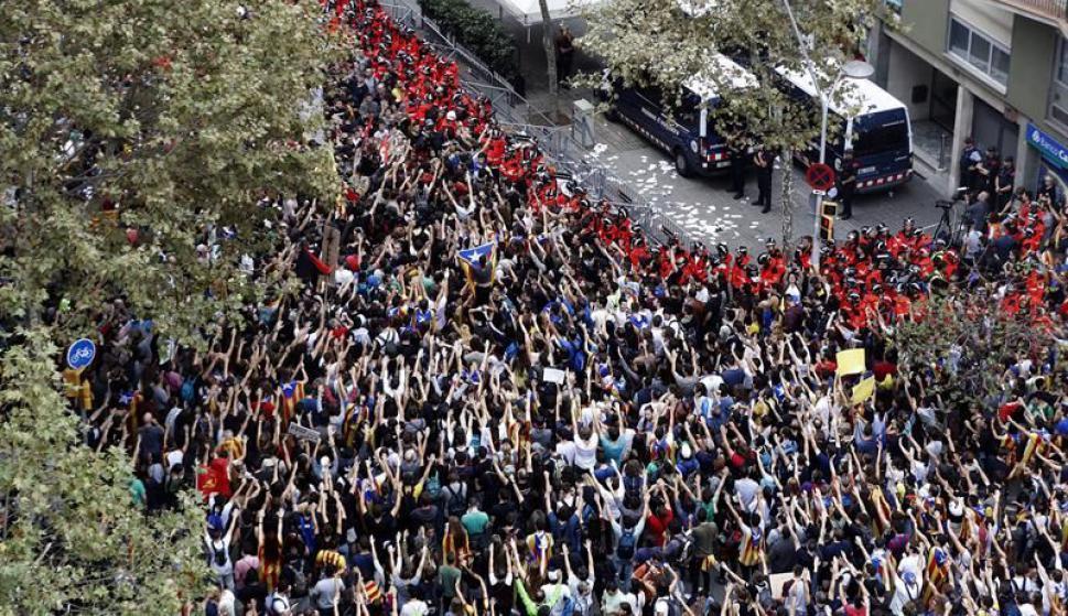 Protestas en Cataluña. Foto: EFE