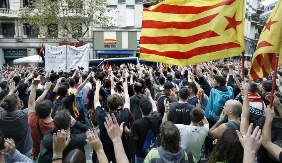 Las calles de Cataluña colmadas. Foto: EFE