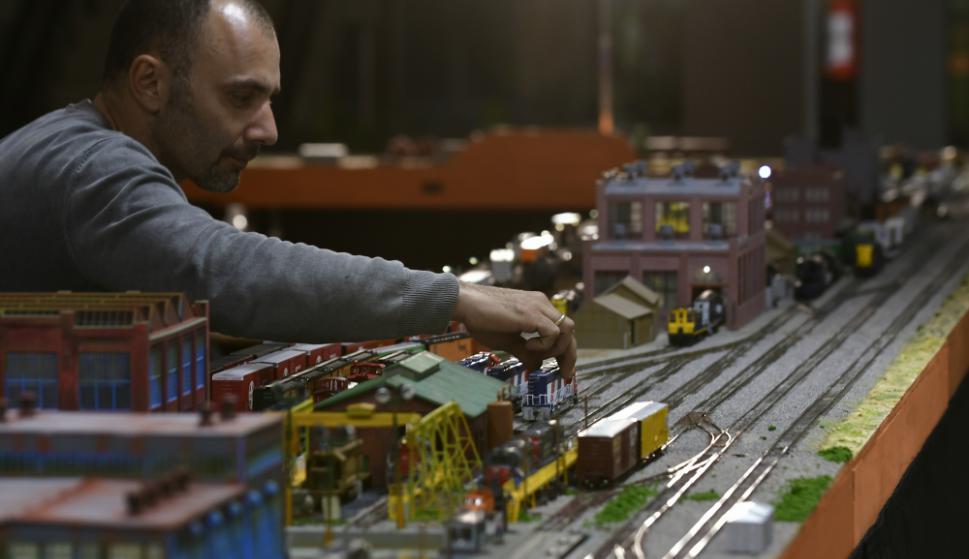 La exposición muestra como es la vida cotidiana en el mundo ferroviario. Foto: Fernando Ponzetto