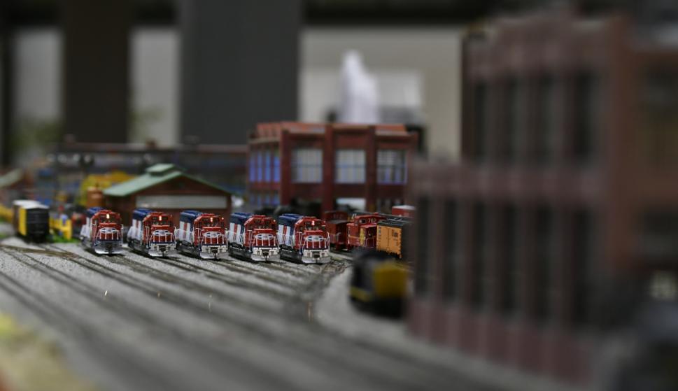 La muestra incluye más de 40 locomotoras. Foto: Fernando Ponzetto