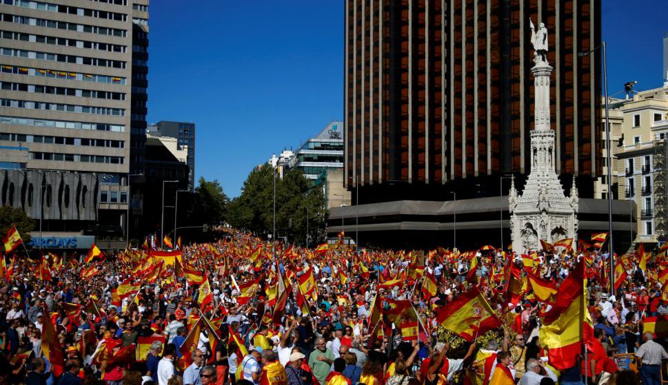 Manifestación nacionalista en Madrid. Foto: Reuters.