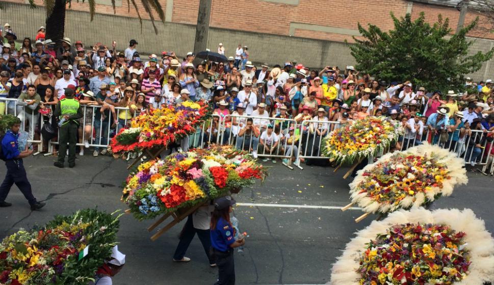 El desfile de silleteros cumplió 60 años y convocó miles de personas.