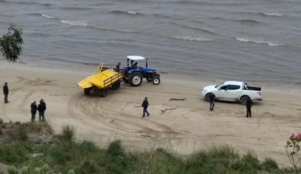 Retiran la avioneta del lugar del accidente. Foto: Ariel Colmegna