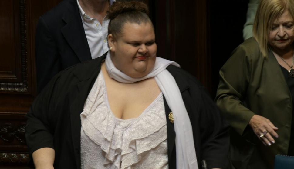 Michelle Suárez en el Senado. Foto: Francisco Flores