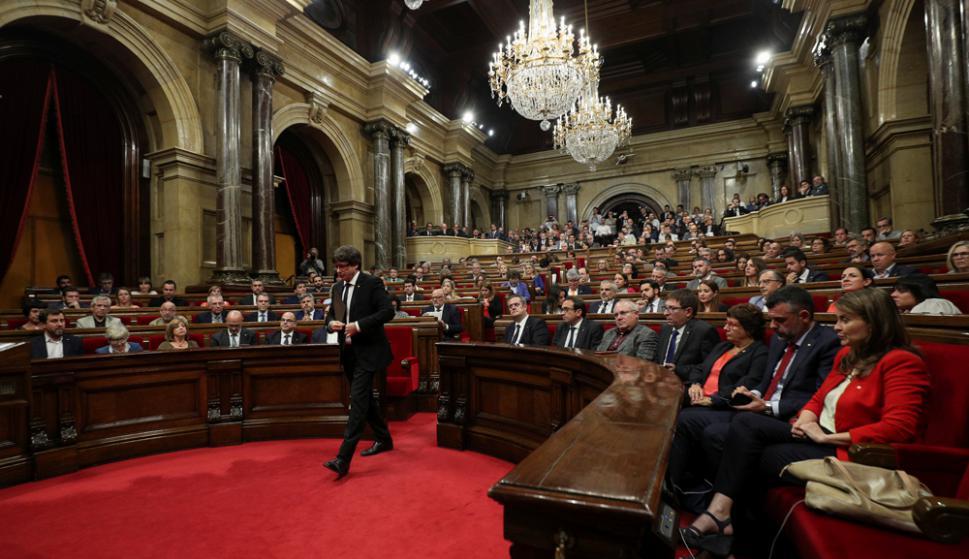 """Puigdemont quedó como una persona que """"no sabe dónde está"""", dijo el gobierno. Foto: Reuters"""