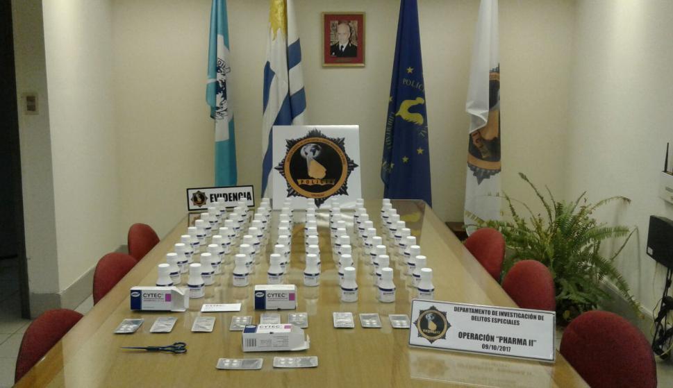 Incautación de misoprostol vendido de forma ilegal.
