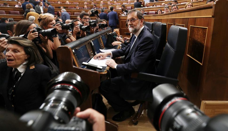 La palabras de Rajoy fueron respaldadas por el Congreso de Diputados del PSOE. Foto: Reuters