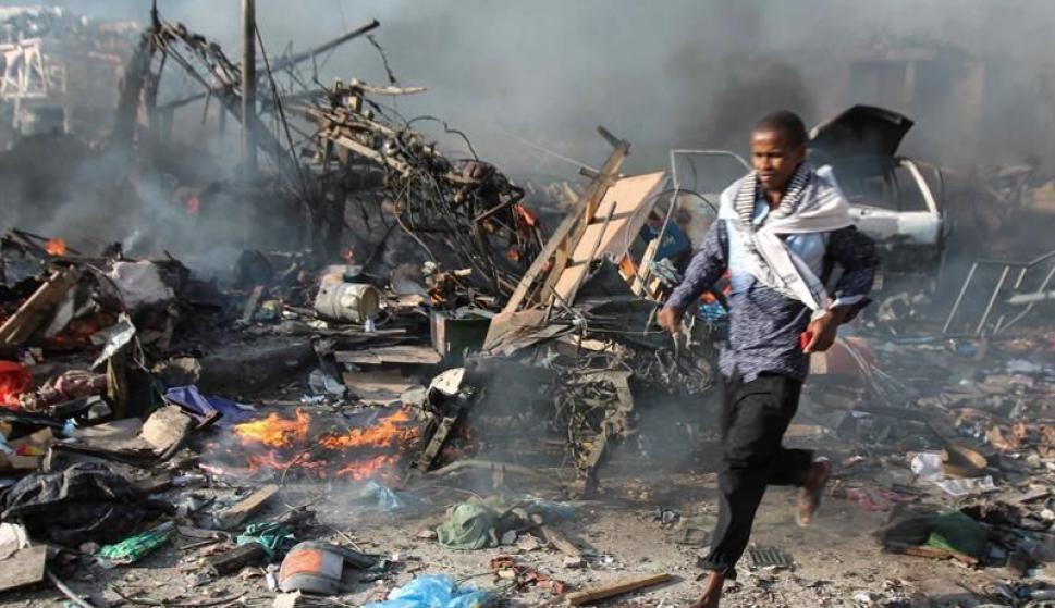 Varios camiones bomba explotaron en Somalia. Foto: EFE