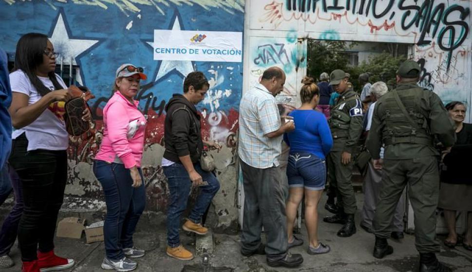 Elecciones en Venezuela. Foto: EFE