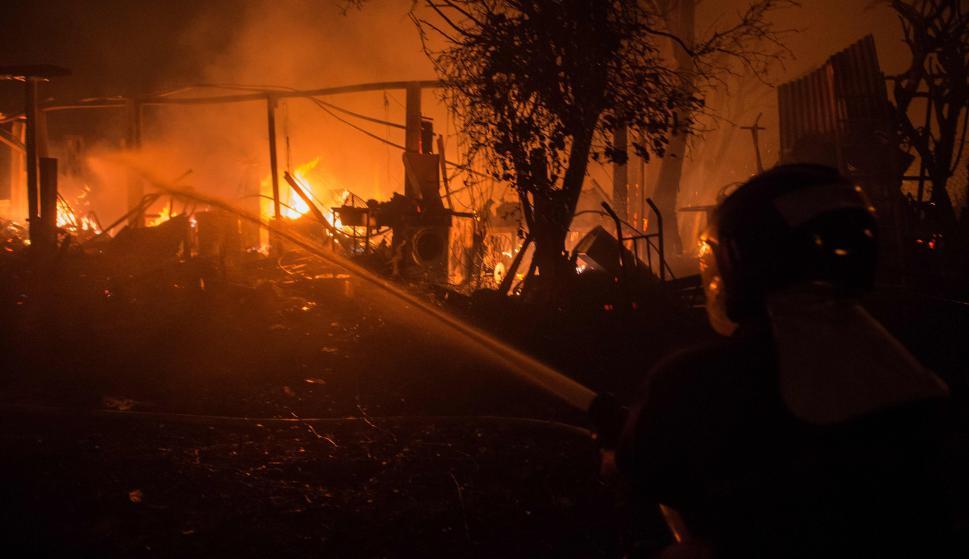 Incendio en Galicia. Foto: AFP