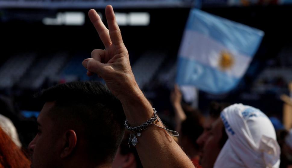 Acto de cierre de campaña de Cristina Fernández de Kirchner. Foto: Reuters
