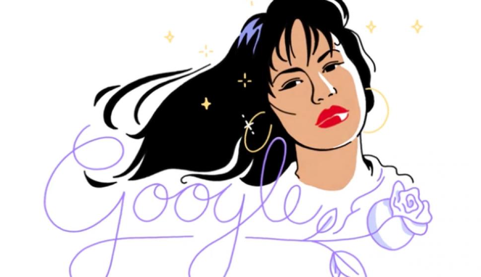 Google homenajea a Selena. Foto: Google