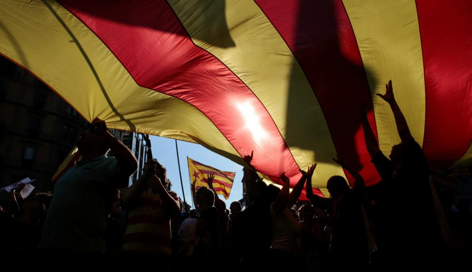 Manifestación independentista en Barcelona. Foto: Reuters.