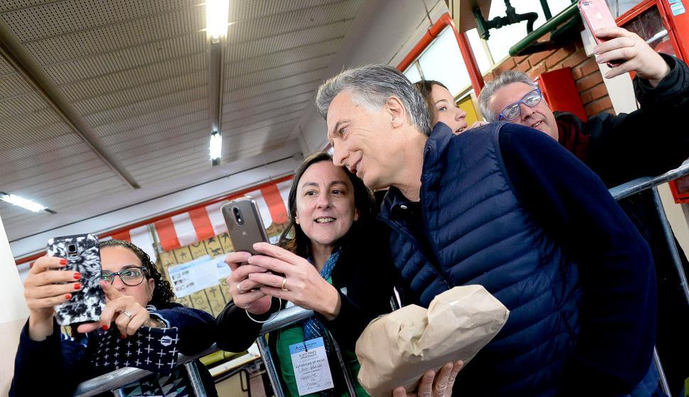 Los sondeos de opinión dan ventaja a la fuerza política del presidente Macri. Foto: AFP