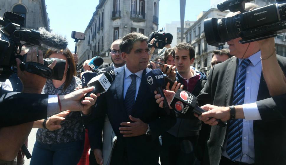 Sendic declara dos años después desde que la opopsición presentó la denuncia penal por irregularidades en Ancap. Foto: Ariwel Colmegna.
