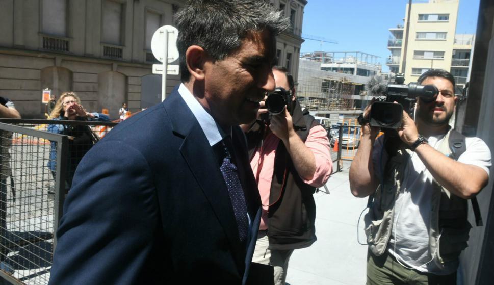 Raúl Sendic llega al juzgado de Crimen Organizado. Foto: Ariel Colmegna.