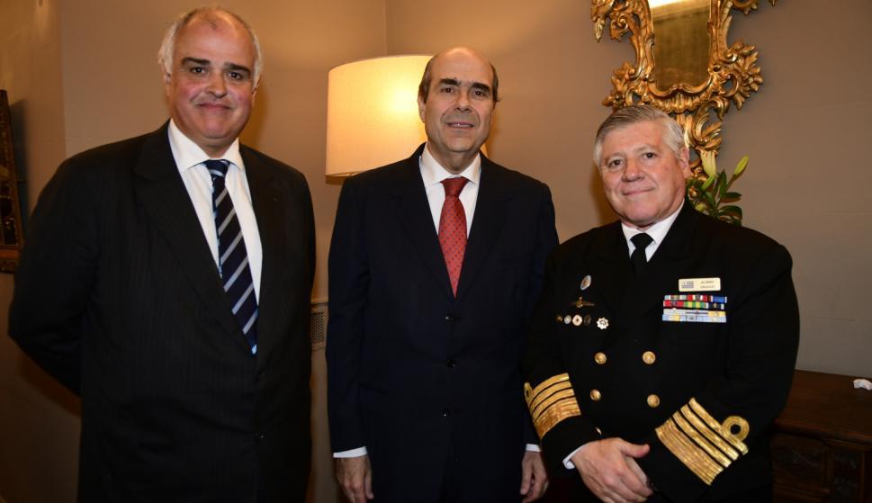 Gustavo Penades, Pablo Abdala, Almirante Leonardo Alonso.
