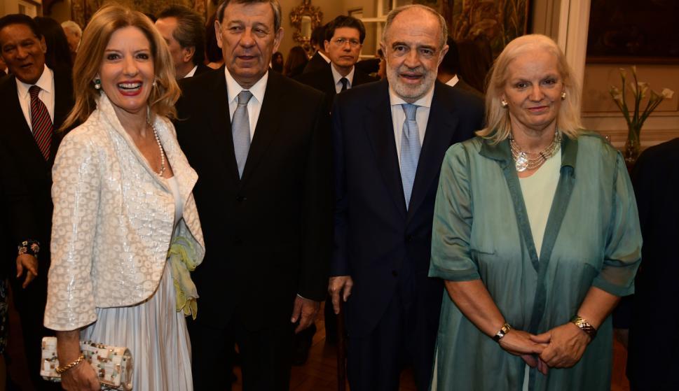 Patricia Damiani, Rodolfo Nin Novoa, Embajador de España Javier Sangro de Liniers, Ana Clara Lucas Gómez.