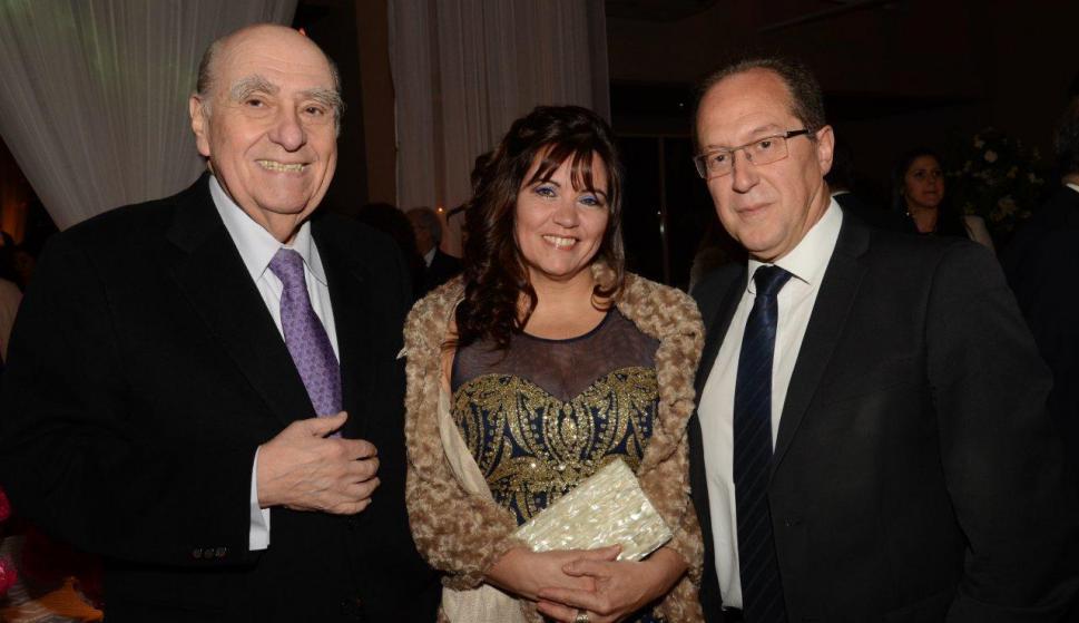 Julio María Sanguinetti, Rosanna Caputi y Miguel Nogueira. Foto: Ruben Oroz