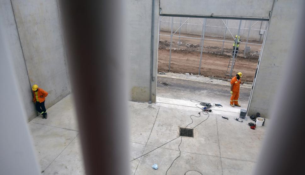 Recorrida por la cárcel de Punta de Rieles. Foto: Fernando Ponzetto.