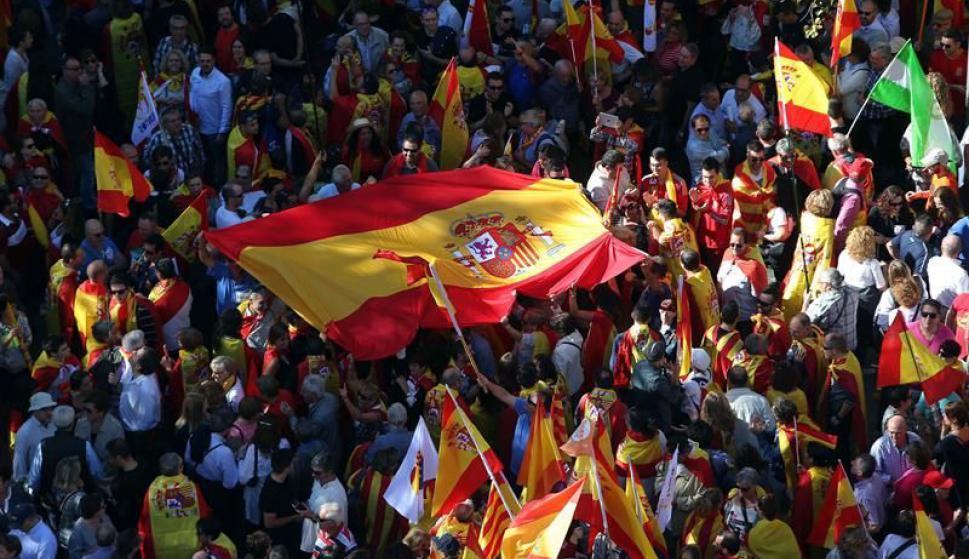 Multitudinaria marcha en España. Foto: EFE